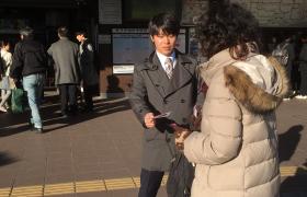 鎌倉市内各駅にて駅頭活動