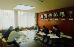 市長、副市長と自民党鎌倉市議団打ち合わせ